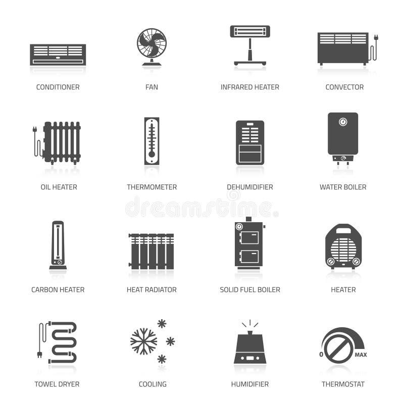 Verwarmende pictogrammen royalty-vrije illustratie