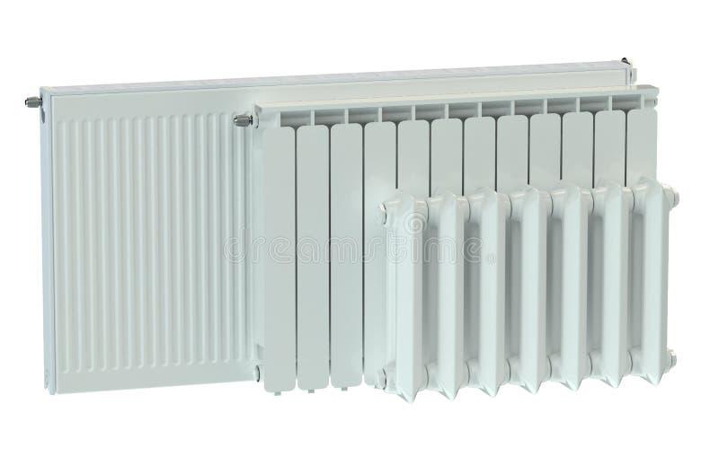 Verwarmende radiators stock illustratie
