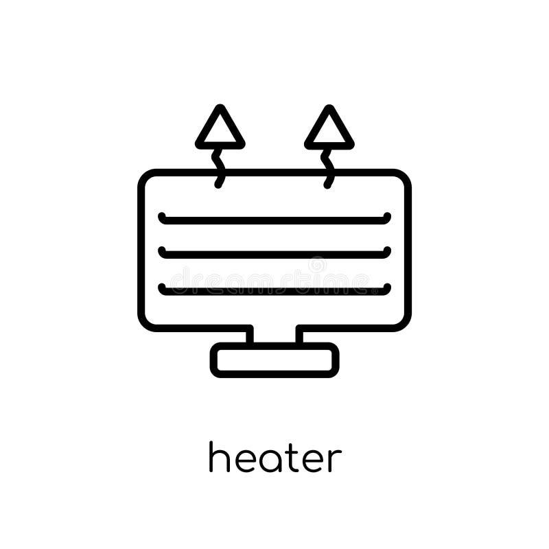 Verwarmerpictogram van inzameling stock illustratie