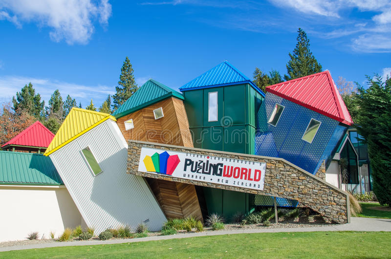 In verwarring brengende Wereld die bij zuideneiland in Nieuw Zeeland wordt gevestigd royalty-vrije stock foto