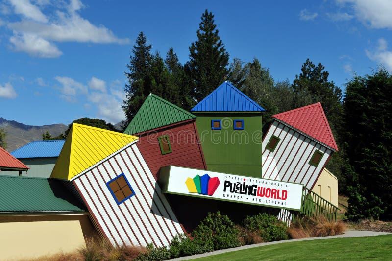 In verwarring brengende Wereld Nieuw Zeeland stock foto's