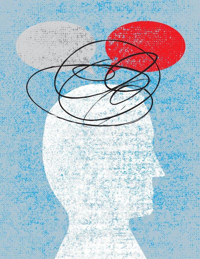 Verwarring en het Nalaten te communiceren vector illustratie