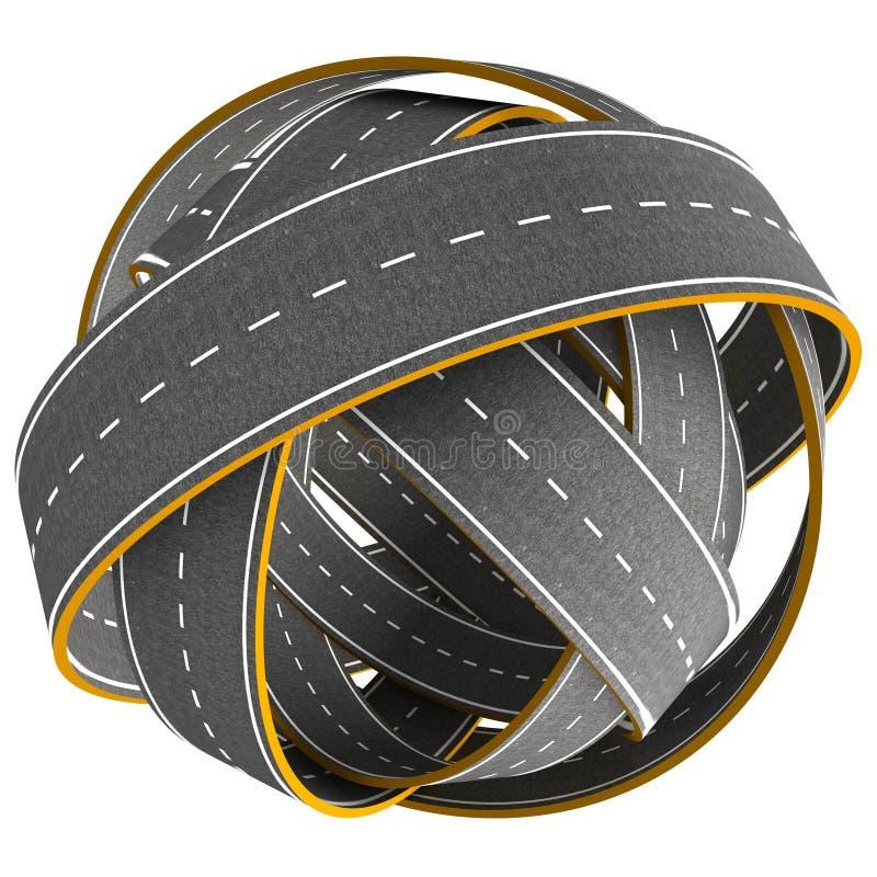 Verwarringsbal van geïsoleerde weg vector illustratie