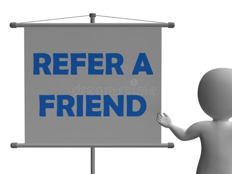 Verweisen Sie eine Freund-Brett-Durchschnitt-freundliche Empfehlung lizenzfreie abbildung
