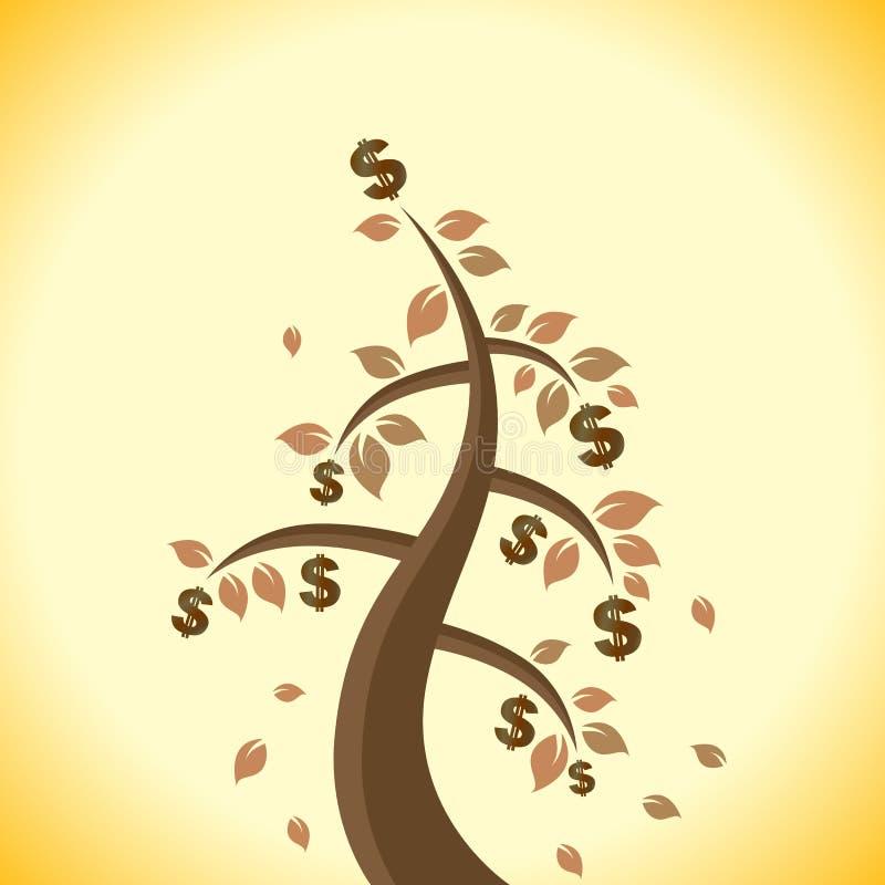 Verwelkter Dollar-Baum lizenzfreie abbildung