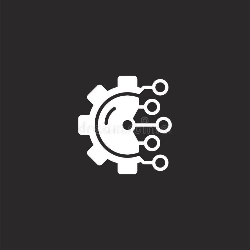 Verwerkende pictogram Gevuld productiepictogram voor websiteontwerp en mobiel, app ontwikkeling de productie van pictogram van ge vector illustratie