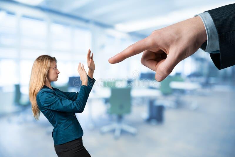 Verwerp haar van werkgelegenheid stock foto