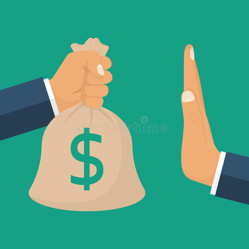 Verwerpingsgeld, concept stock illustratie