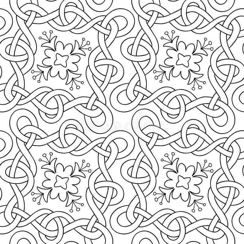 Verweven lijnen naadloos patroon royalty-vrije illustratie