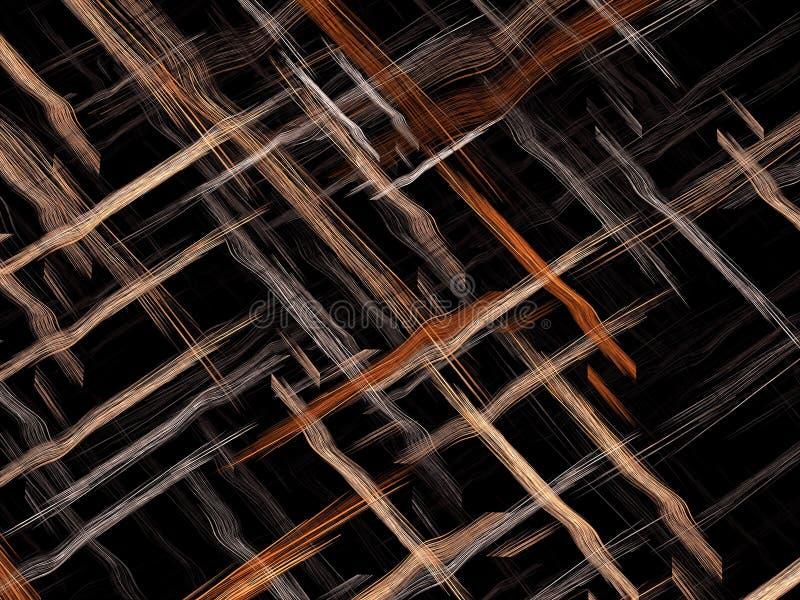 Verweven strepen - abstract digitaal geproduceerd beeld vector illustratie