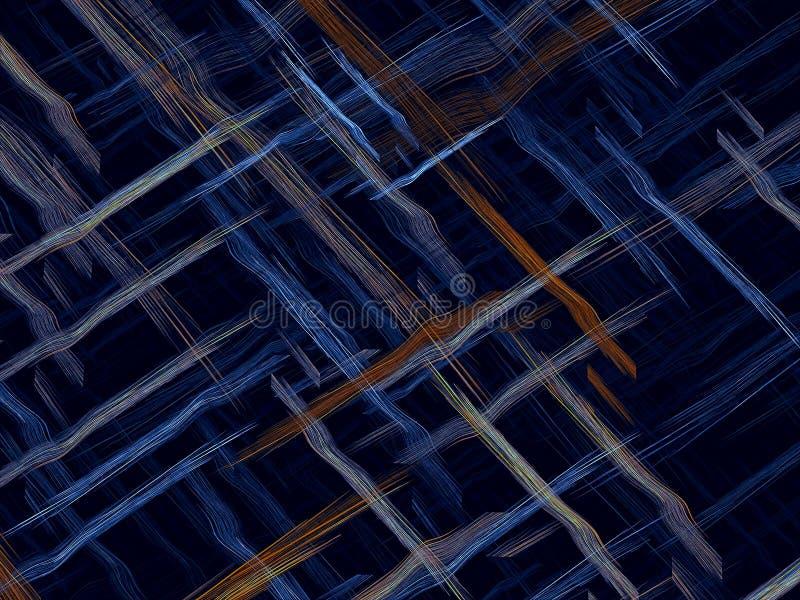 Verweven strepen - abstract digitaal geproduceerd beeld royalty-vrije illustratie