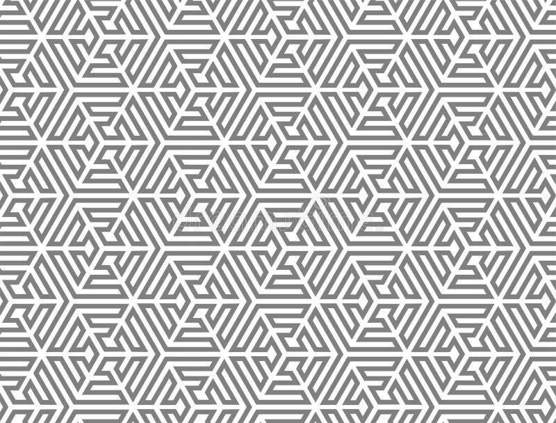 VERWEVEND NAADLOOS VECTORpatroon TESSELATION GESTREEPTE TEXTUUR vector illustratie