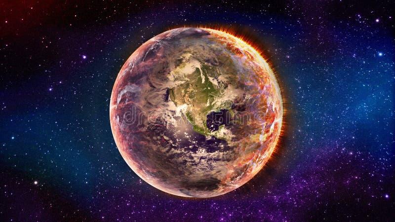 verwezenlijking van de aarde vector illustratie