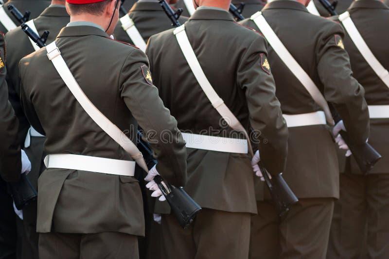 Verwezenlijking van militairen royalty-vrije stock afbeeldingen