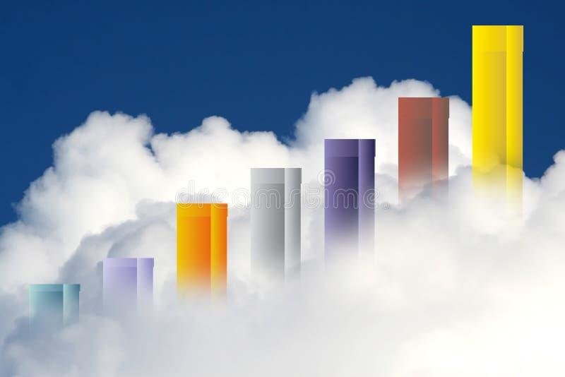 Verwezenlijkingen boven de wolken vector illustratie