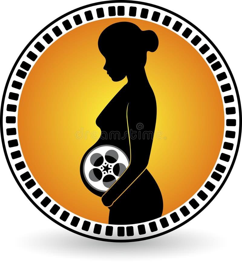 Verwezenlijkings zwangere film vector illustratie