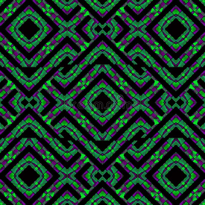Verwickeltes geometrisches abstraktes modernes Muster stock abbildung