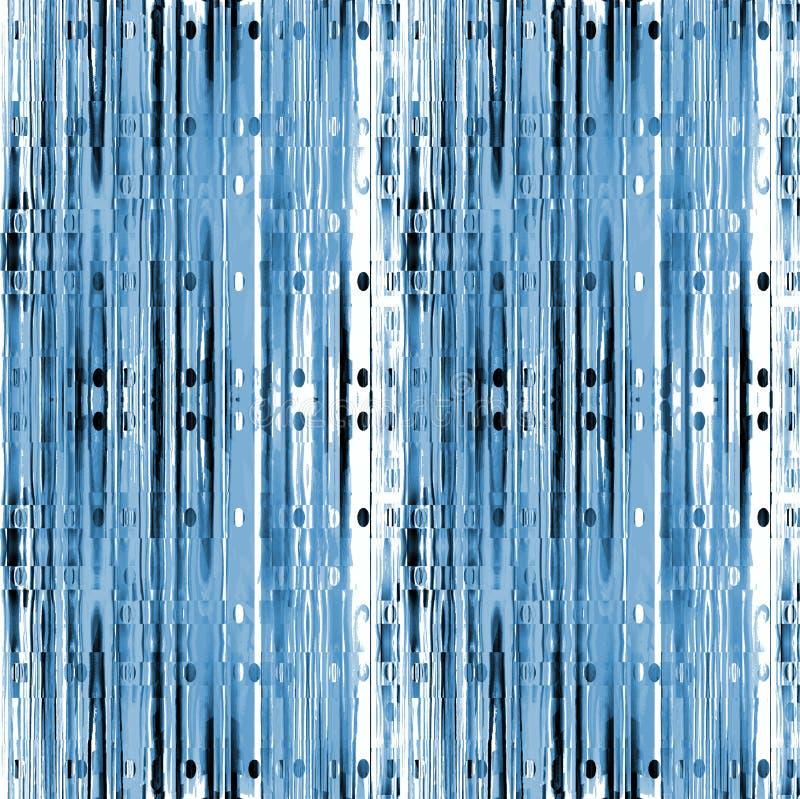 Verwickeltes Streifenmuster mit blauem Schwarzem des grauen Weiß der Ellipsen vertikal vektor abbildung