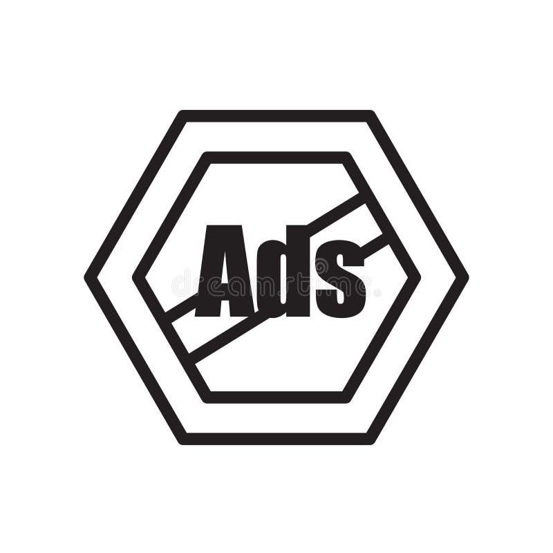 verwijder advertentiespictogram op witte achtergrond wordt geïsoleerd die royalty-vrije illustratie