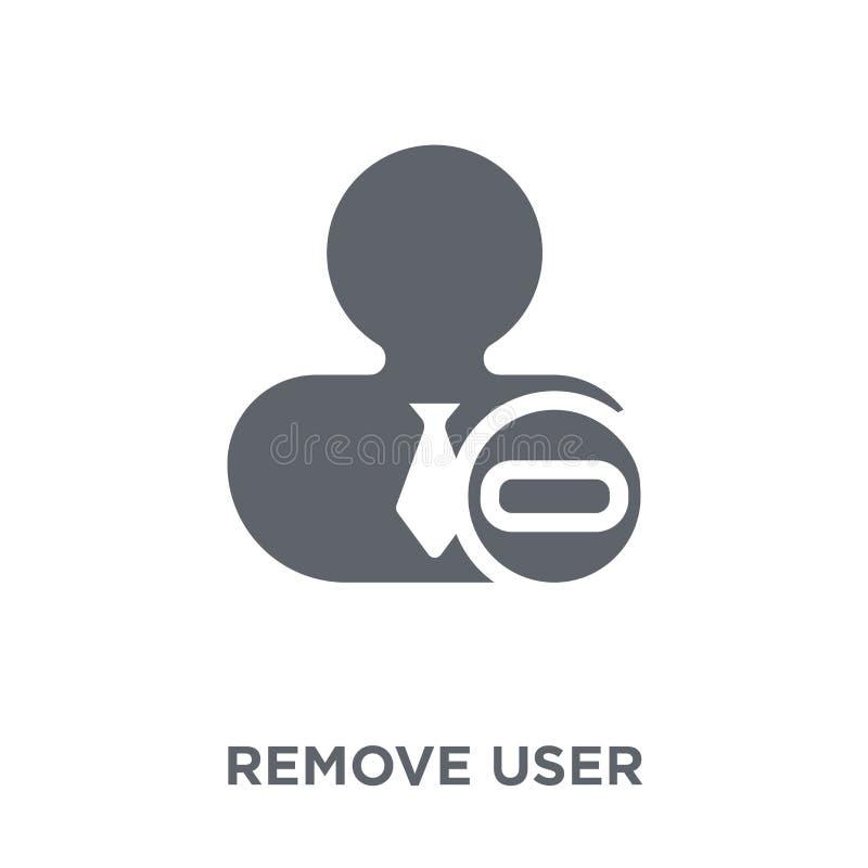 Verwijder gebruikerspictogram uit Personeelsinzameling stock illustratie