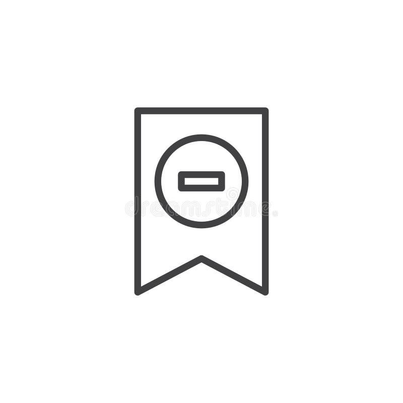 Verwijder het pictogram van het referentieoverzicht royalty-vrije illustratie
