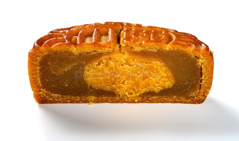 Verwijder traditionele Chinese mooncake de Chinese karakters fijngestampt lotusbloemzaad bedoelen royalty-vrije stock afbeelding