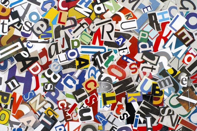 Verwijderde brieven stock foto's