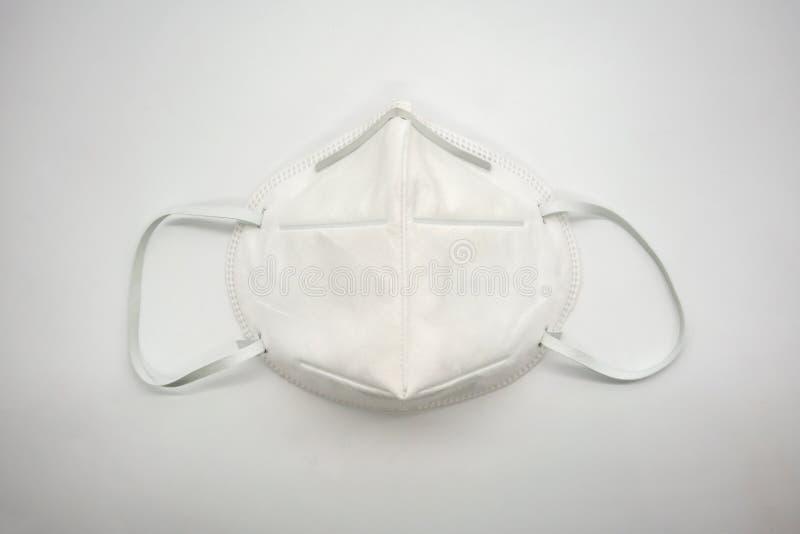 Verwijderings 3D luchtvervuiling of stofmasker met regelbaar metaal noseclip op witte achtergrond royalty-vrije stock afbeelding