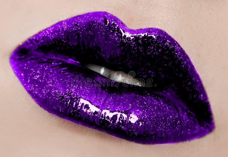 Verwijfde lippen royalty-vrije stock foto's