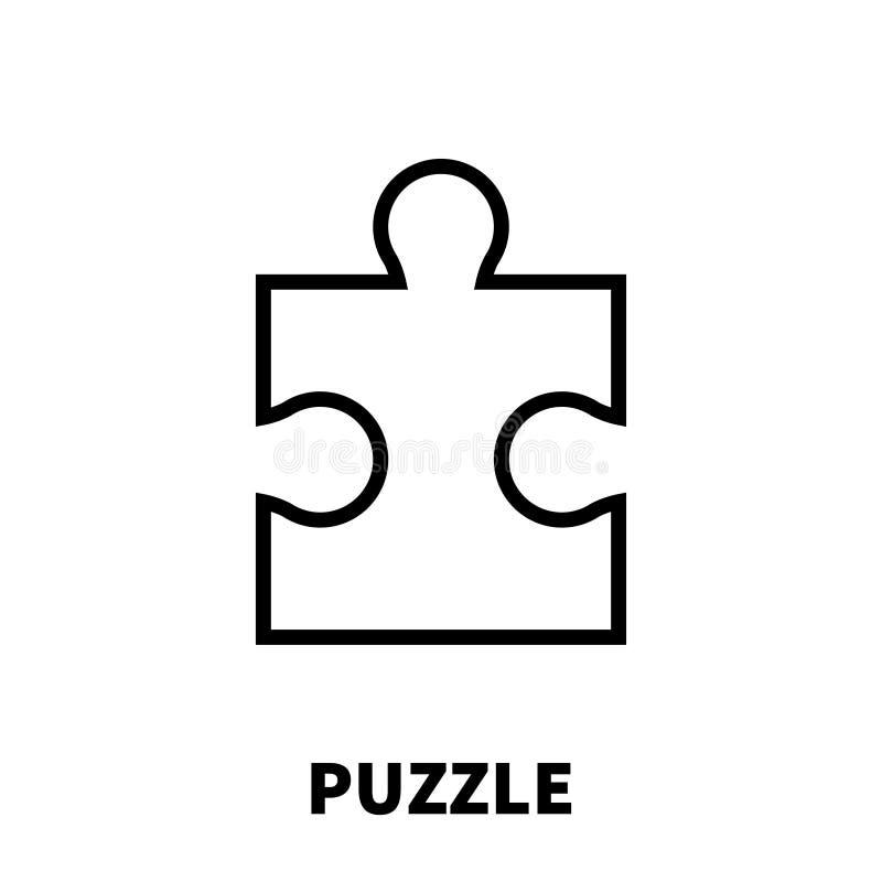 Verwirren Sie Ikone oder Logo in der modernen Linie Art vektor abbildung
