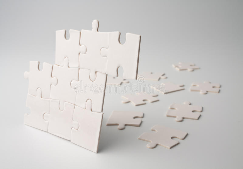 Verwirren Sie Stücke stockbilder