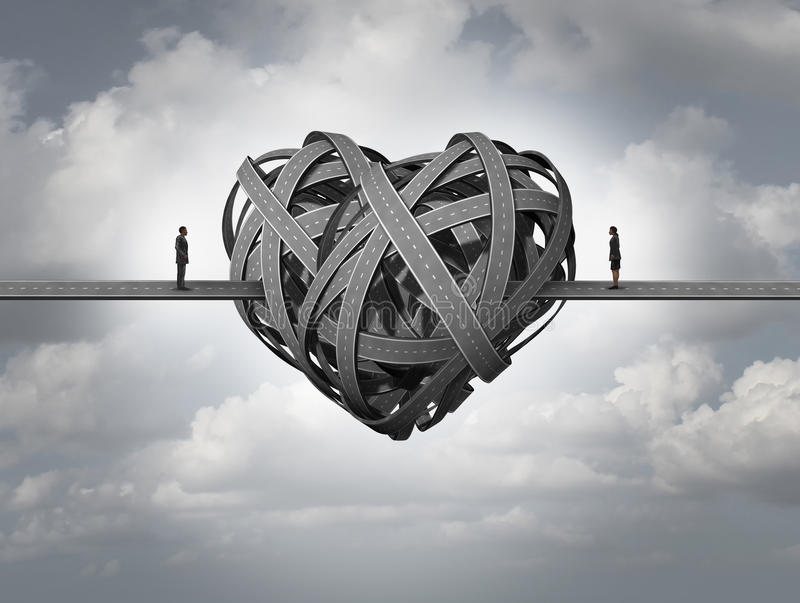 Verwirrt über Liebe stock abbildung
