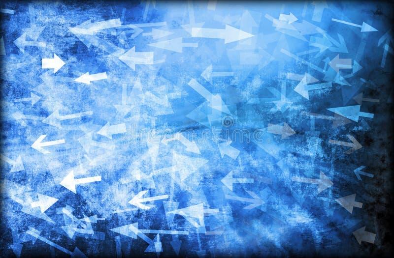 Verwirrungs-abstrakter Pfeil-Hintergrund lizenzfreie stockbilder