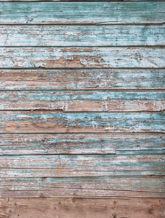 Verwitterte blaue hölzerne Hintergrundbeschaffenheit stockfotos
