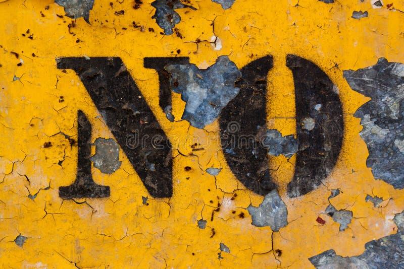 Download Verwitterte KEIN Zeichen stockfoto. Bild von metall, schale - 27732044