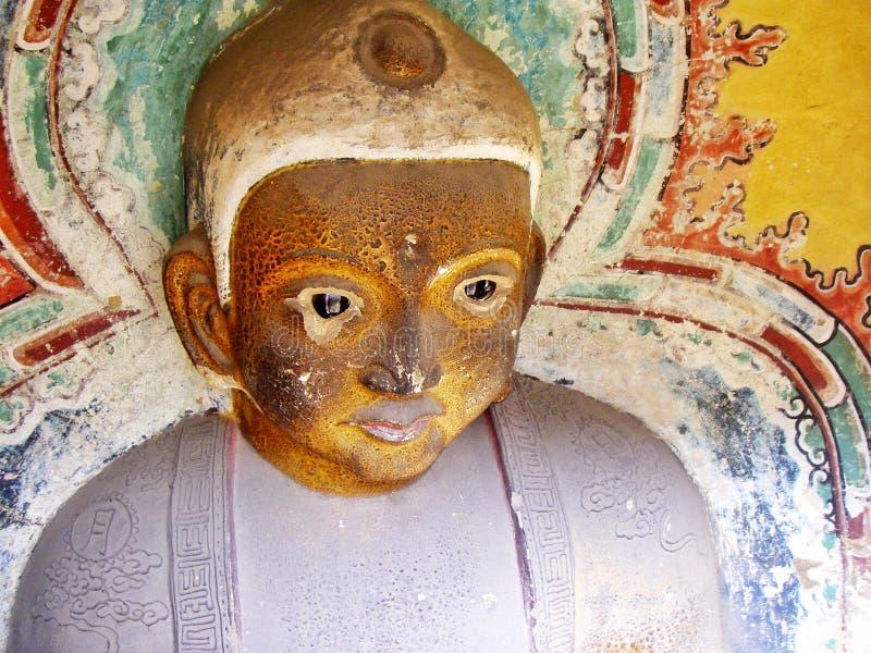 Verwitterter Buddha in Shanxi China lizenzfreie stockfotos