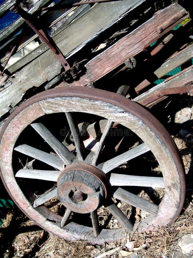 Verwittertes Lastwagenrad lizenzfreie stockfotos