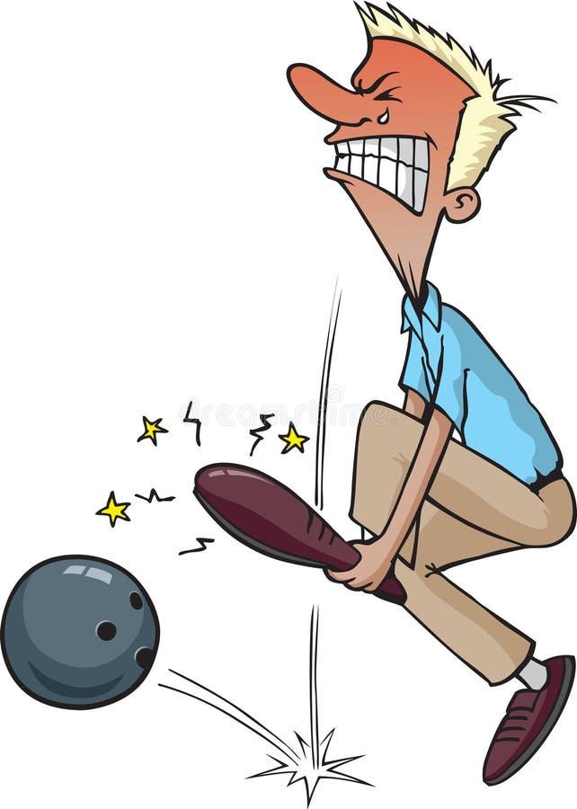 Download Verwonde Bowlingspeler stock illustratie. Illustratie bestaande uit tenen - 10781146