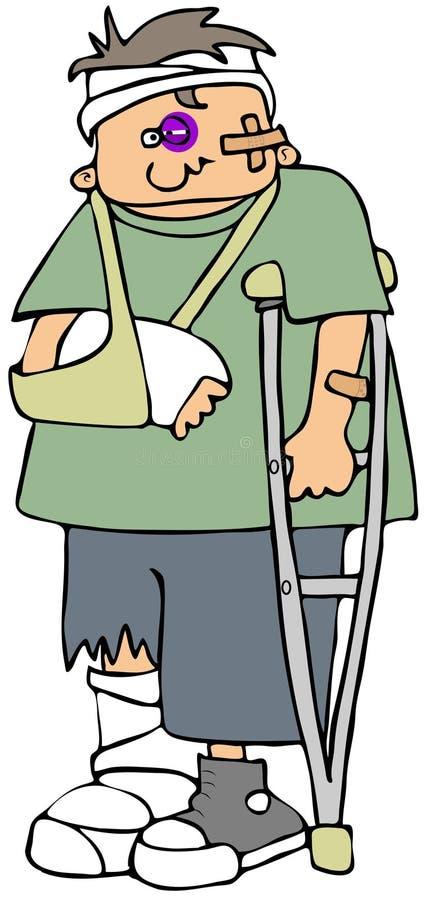 Verwonde jongen vector illustratie