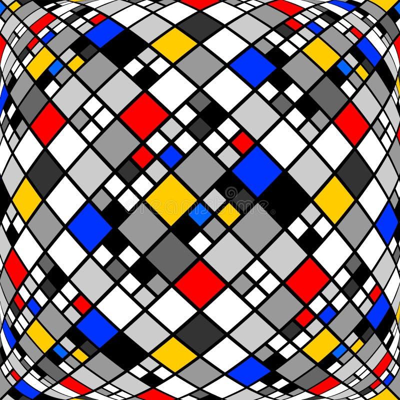 Verworfenes Mosaikmuster des Designs Monochrom vektor abbildung