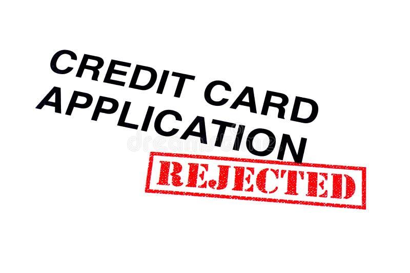 Verworpen Creditcardtoepassing stock foto's
