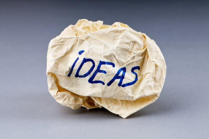 Verworpen ideeconcept - document stock afbeeldingen
