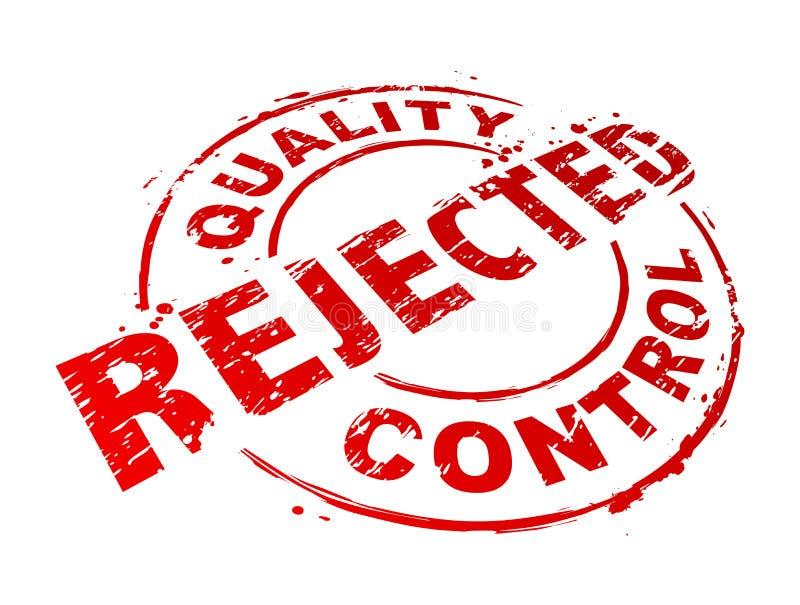 Verworpen Kwaliteitsbeheersing stock illustratie