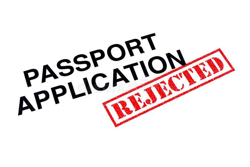 Verworpen paspoorttoepassing stock afbeeldingen