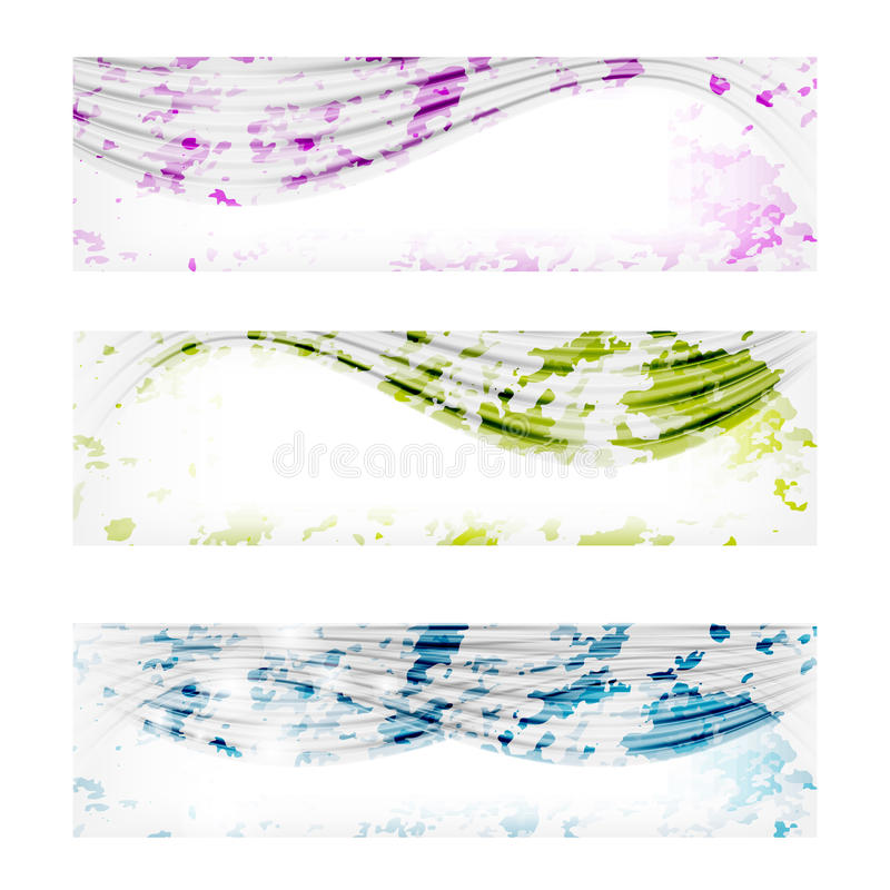 very abstract banners with transparent lines royalty free illustration