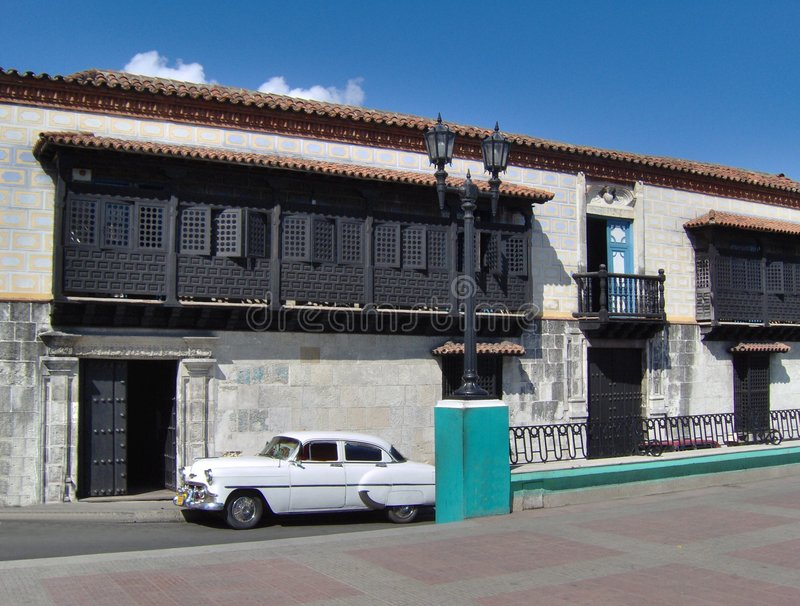 Download Very Ancient Colonial House Stock Image - Image of building, santiago: 1522313
