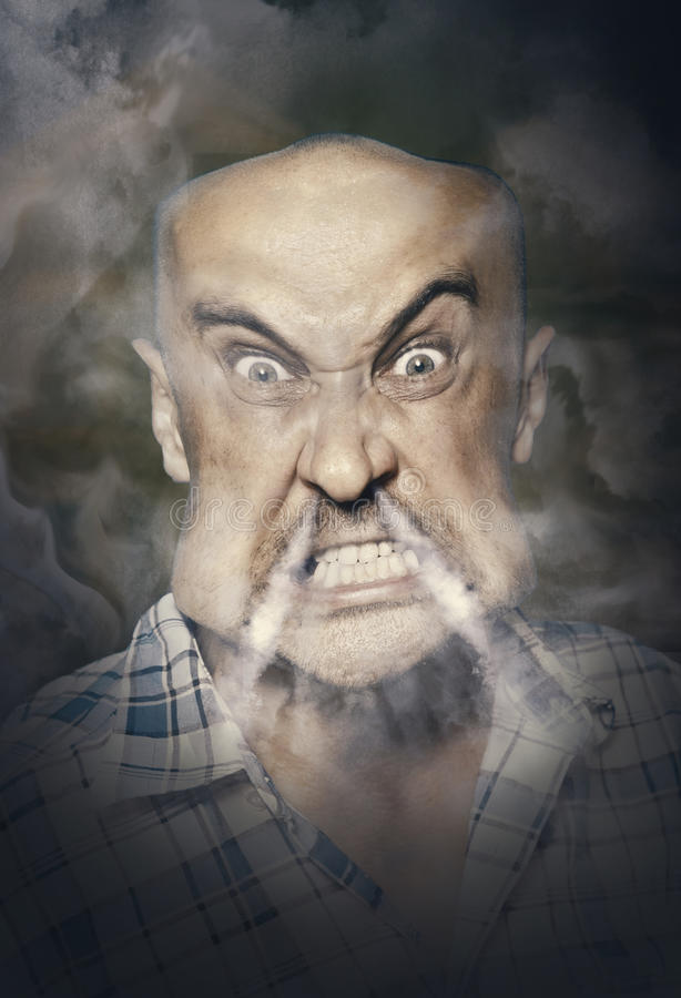 Very angry man royalty free stock photos