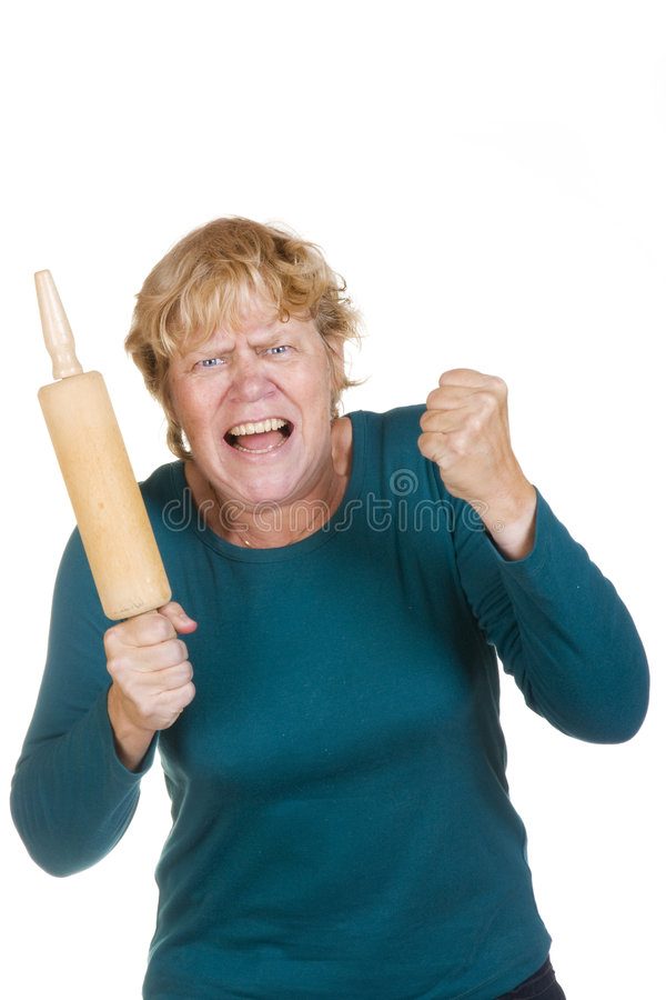 Very angry woman stock photos