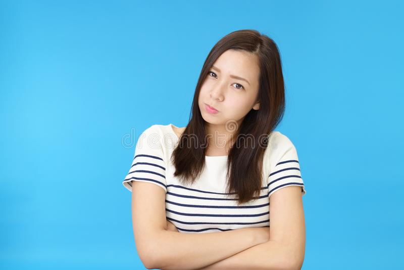 Very angry woman royalty free stock images