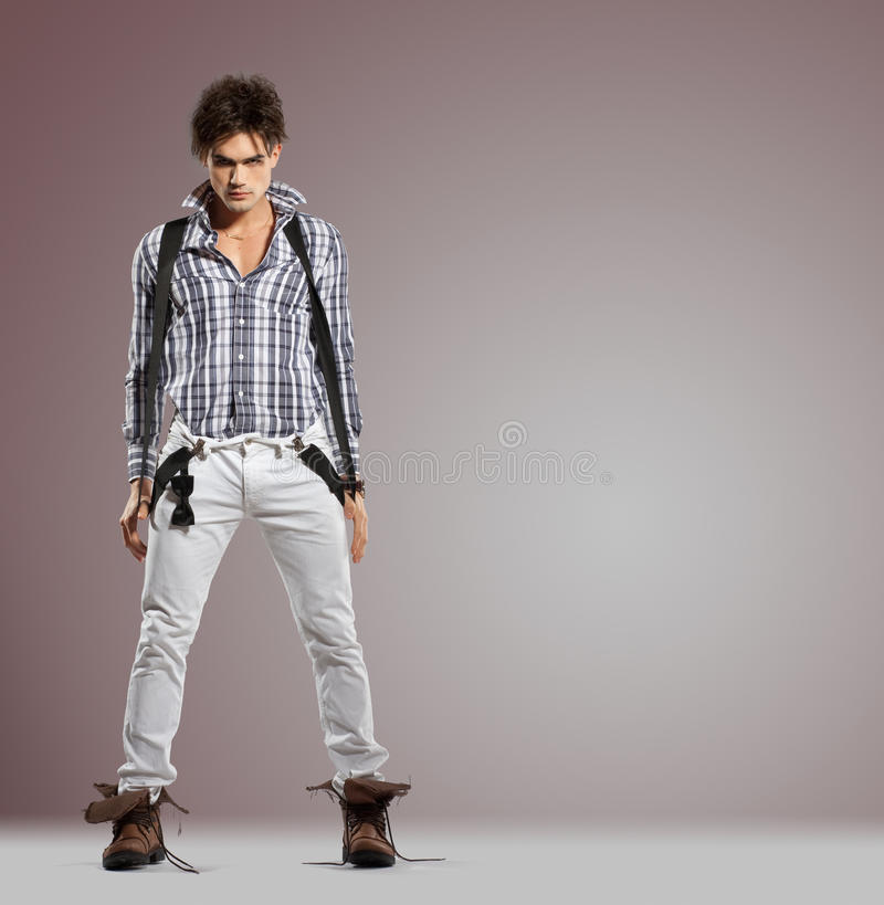 Download Very Attractive Young Male With Serious Attitude Royalty Free Stock Photo - Image: 16040665
